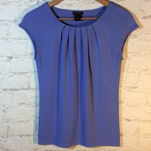 ANN TAYLOR SOFT BLUE STRETCHY BLOUSE